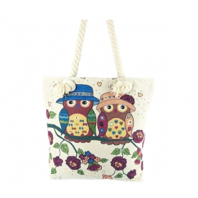 Canvas Shopper With Cotton Rope