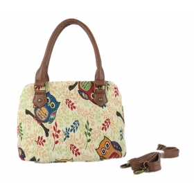 Small Speedy Canvas Shoulder Bag With Long Strap