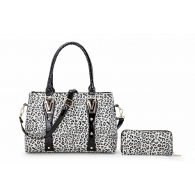 Patterns PU Leather Handbag With Purse