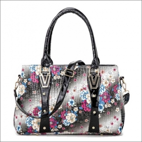 Patterns PU Leather Handbag