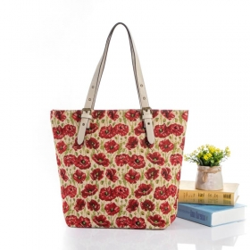 Canvas Shopper With PU Handle