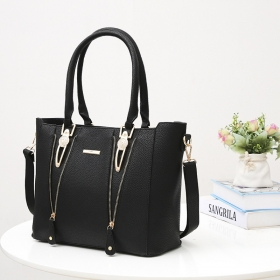 Gallery Medium PU Leather Satchel