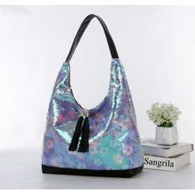 Oversized Sequins Shoulder Bag